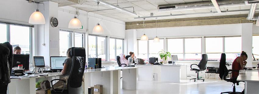 flexplek in kantoorpand aan de Anthony Fokkerweg in Amsterdam