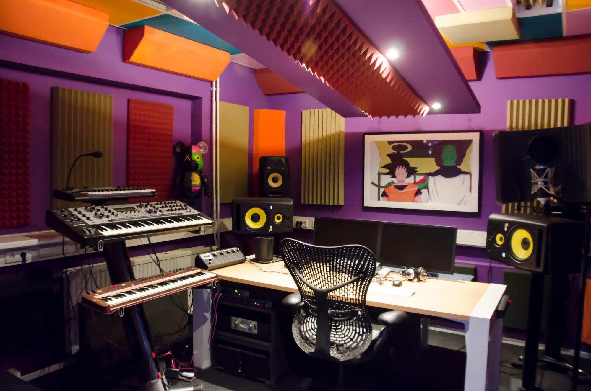 ingerichte studio aan de Keienbergweg in Amsterdam