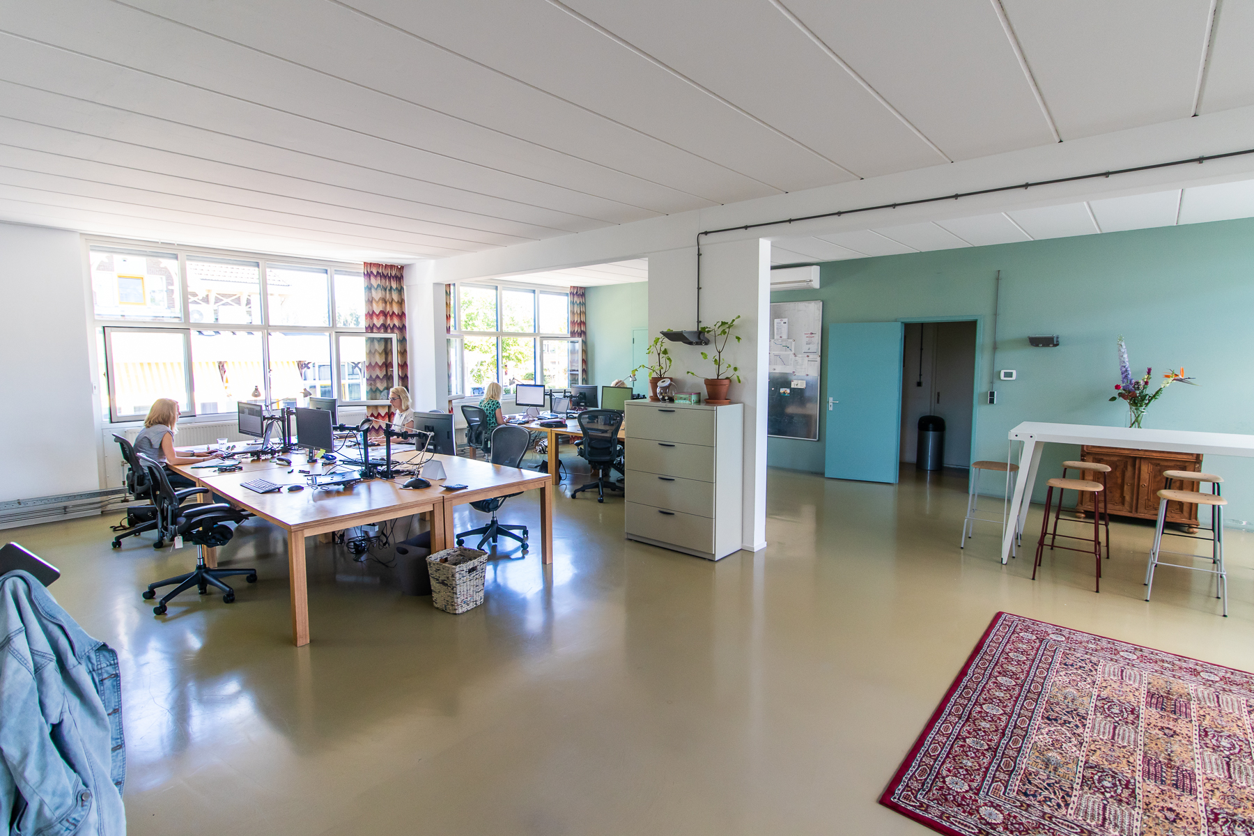 Several working spaces available