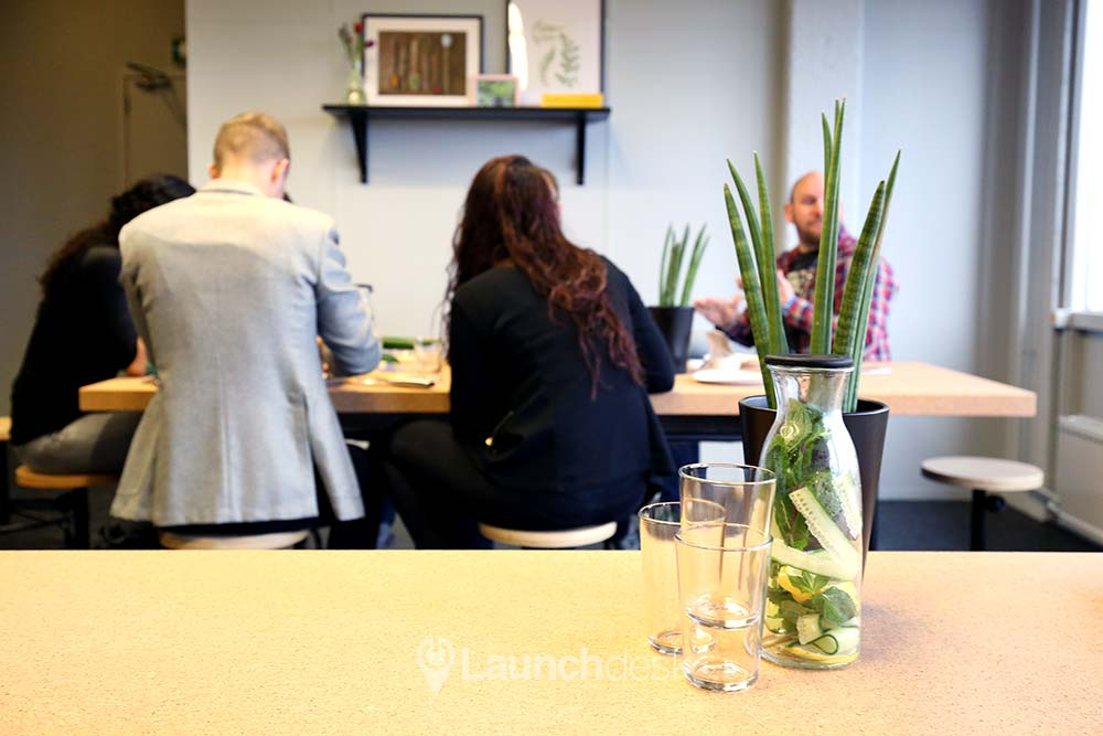 lunchruimte in kantoorgebouw in Utrecht west